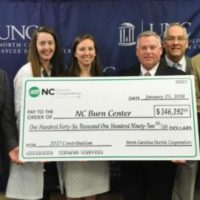 Co-ops Present $146K to NC Jaycee Burn Center
