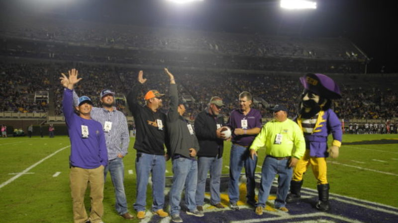 Hurricane Florence Recovery Efforts Highlighted at ECU Game