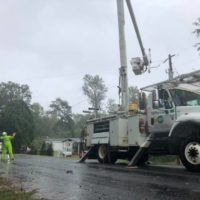 N.C. Co-op Crews Working to Restore Growing Number of Outages from Tropical Storm Michael