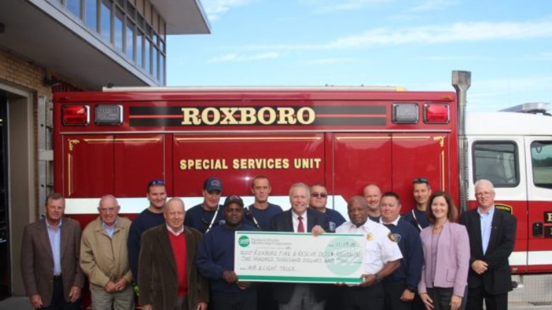 Piedmont Electric Helps Roxboro Fire Department Acquire New Air Truck