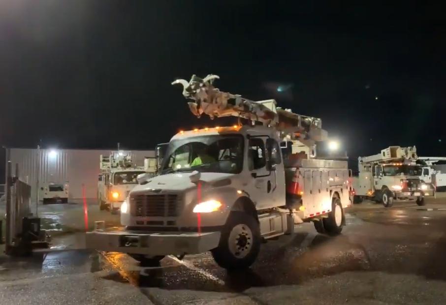 South River EMC rolls truck after Hurricane Dorian