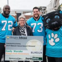 EnergyUnited and Carolina Panthers Team Up to Award Bright Ideas Grant to Local Teacher