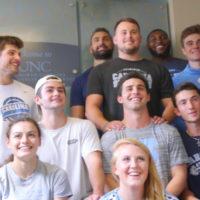 UNC Athletes Make 13th Annual Visit to Patients at North Carolina Jaycee Burn Center