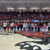 Touchstone Energy Sports Camp Scholarship Winners Recognized at Wolfpack Women's Basketball Game