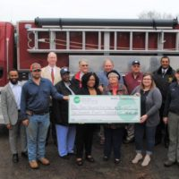 Halifax EMC Provides Zero-Interest Loan to Inez Volunteer Fire Department for Purchase of New Truck