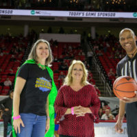"Co-op Kenan Fellow Honored as Education ""Superhero"" at N.C. State Basketball Game"