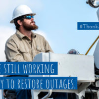 Help Us #ThankaLineworker on April 13