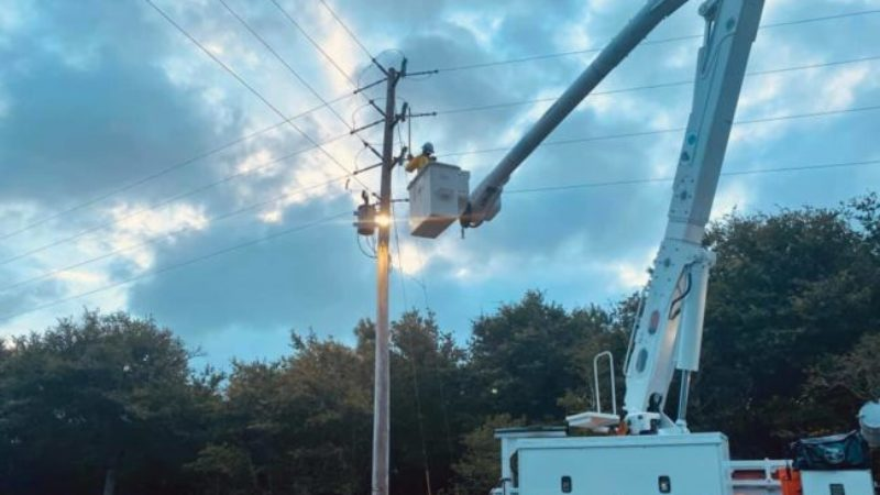N.C. Electric Cooperative Crews Work to Restore Final Outages Following Hurricane Isaias
